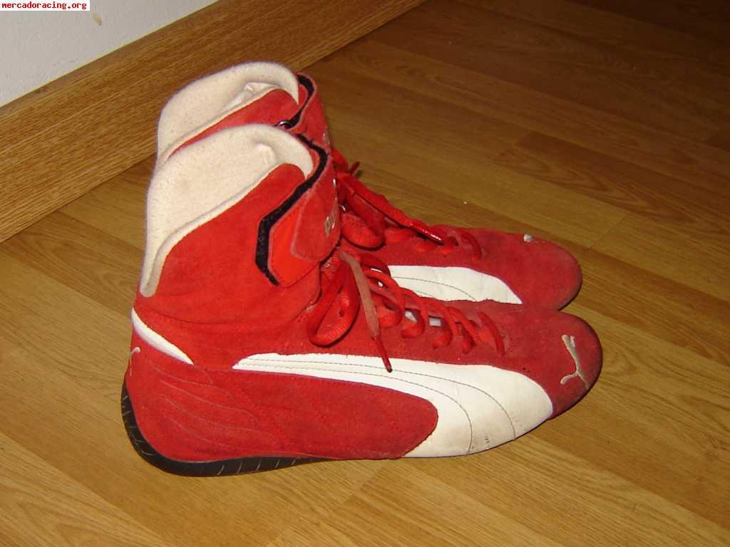 zapatillas puma botines rojos
