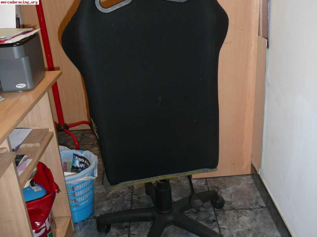 Silla giratoria de ruedas con baquet omp venta de for Silla oficina baquet