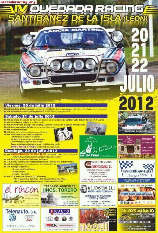 Iv kedada racing y clasicos en santiba ez de la isla leon for Mercado racing clasicos