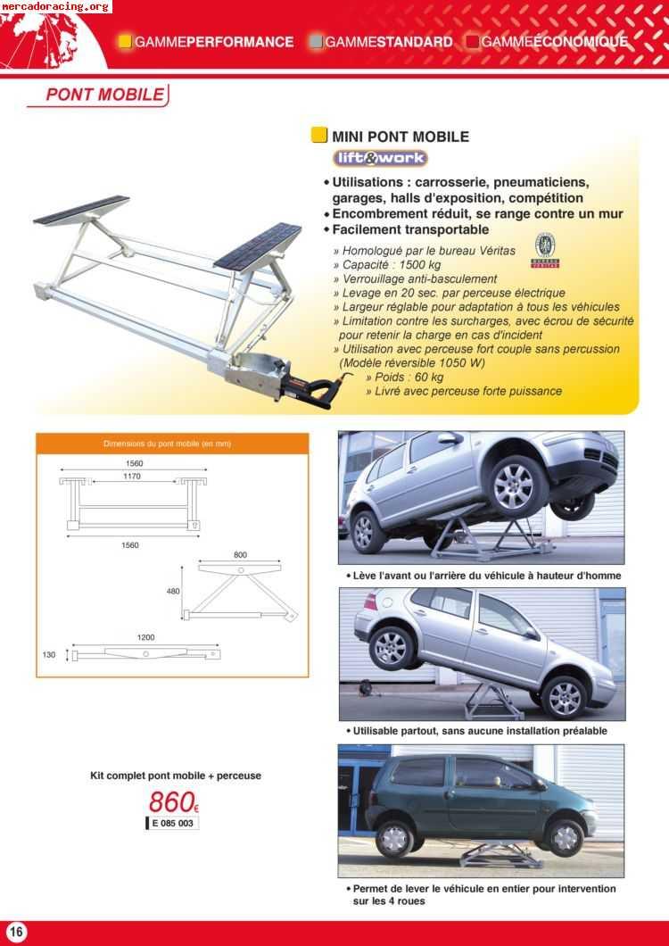 elevador movil de taladro para servicio rapido de vehiculos. Black Bedroom Furniture Sets. Home Design Ideas