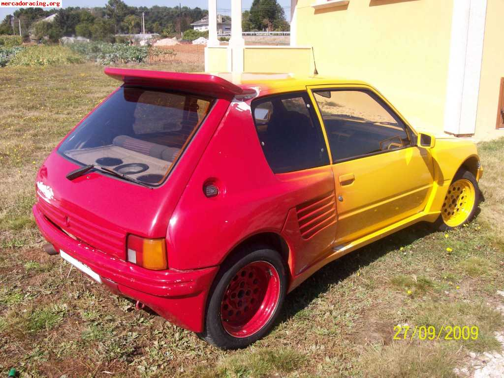 vendo peugeot 205 gti replica turbo 16 venta de veh culos y coches cl sicos. Black Bedroom Furniture Sets. Home Design Ideas