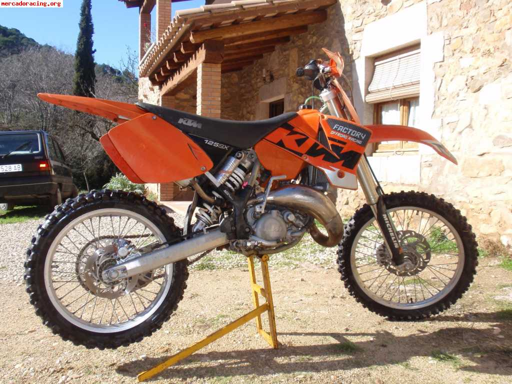 ktm 125 de cross venta de motos de carretera enduro o cross. Black Bedroom Furniture Sets. Home Design Ideas
